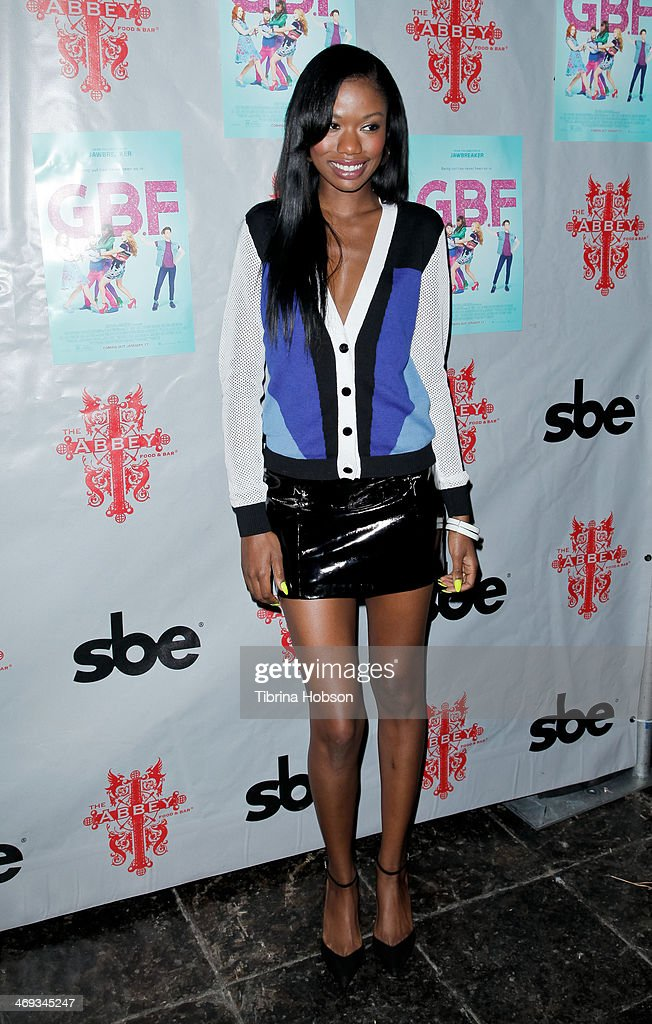 Xosha Roquemore attends the 'G.B.F.' DVD release party at The Abbey on February 13, 2014 in West Hollywood, California.