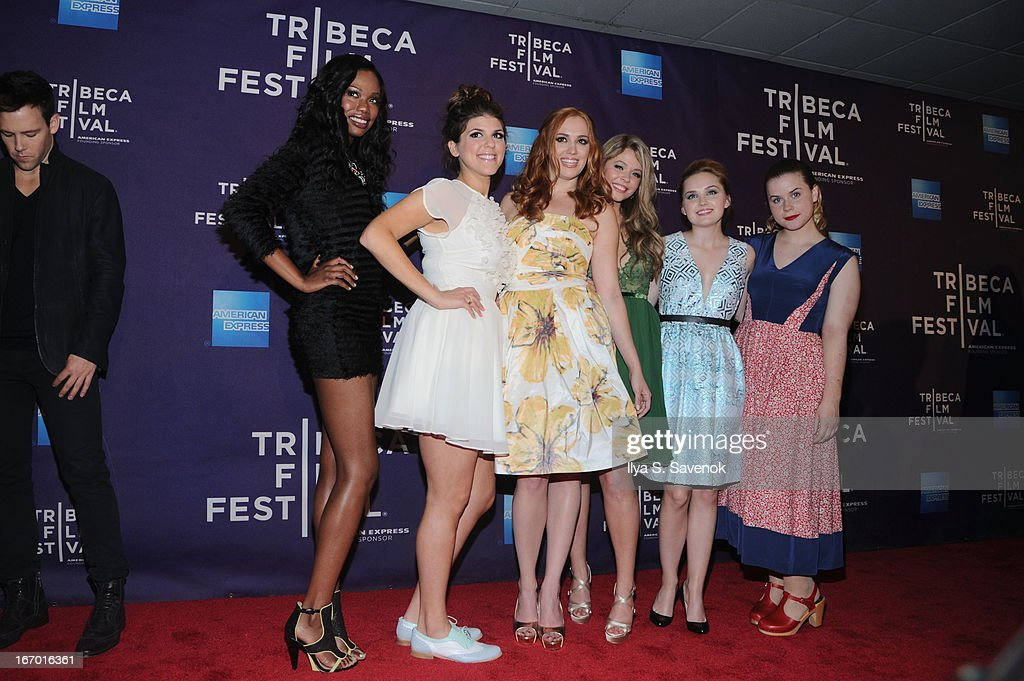 Xosha Roquemore, Molly Tarlov, <a gi-track='captionPersonalityLinkClicked' href=/galleries/search?phrase=Andrea+Bowen&family=editorial&specificpeople=212969 ng-click='$event.stopPropagation()'>Andrea Bowen</a>, <a gi-track='captionPersonalityLinkClicked' href=/galleries/search?phrase=Sasha+Pieterse&family=editorial&specificpeople=2237740 ng-click='$event.stopPropagation()'>Sasha Pieterse</a>; Mia Rose Frampton and Jessie Ennis attend the 'G.B.F.' world premiere during the 2013 Tribeca Film Festival on April 19, 2013 in New York City.