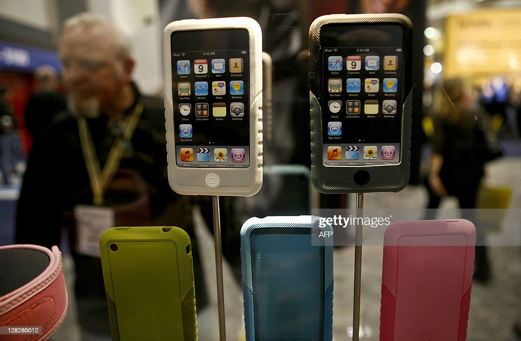 XtremeMac displays its line of protective iPhone shields during the Macworld Expo 2009 in San Francisco, CA, Wednesday, Jan. 7, 2009. Tens of thousands of Macintosh consumers as well as Apple engineers and developers attended the annual technology fair where new Mac-compatible products were showcased along with the release of Apple's latest computer gadgets and software updates. New versions of iWork and iLife were also announced. AFP PHOTO / Ryan Anson