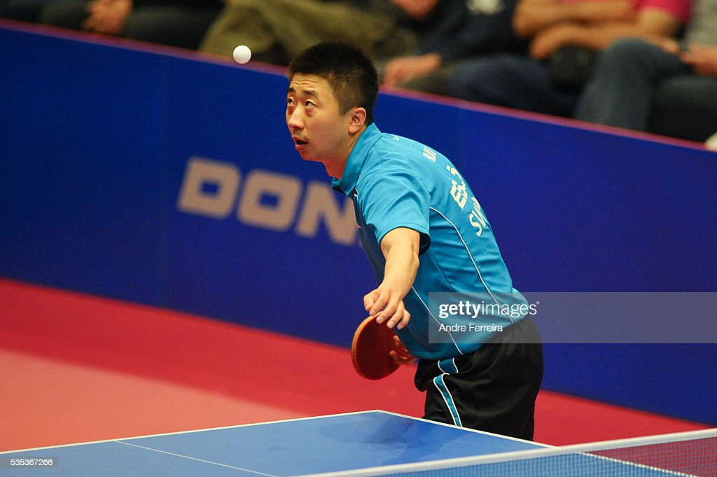Xu Hui during the Table Tennis Champions League Final between Pontoise Cergy and Eslov on May 29, 2016 in Cergy-Pontoise, France.