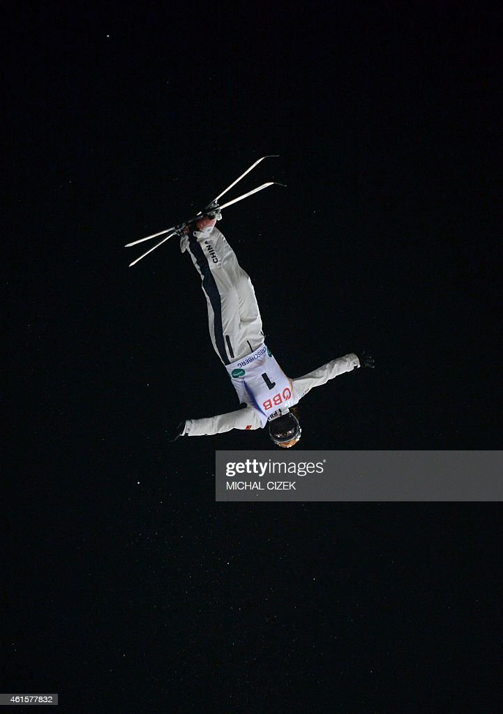 <a gi-track='captionPersonalityLinkClicked' href=/galleries/search?phrase=Xu+Mengtao&family=editorial&specificpeople=4131456 ng-click='$event.stopPropagation()'>Xu Mengtao</a> of China competes during the Men's Aerials Finals during FIS Freestyle and Snowboarding World Ski Championships 2015 in Kreischberg, Austria on January 15, 2015. Ql Guangpu of China won ahead alex Bowen of United States and maxim Gustik of Belarus. AFP PHOTO / MICHAL CIZEK