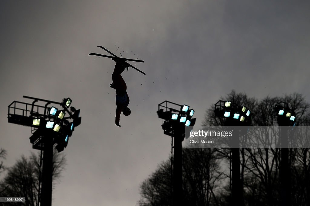<a gi-track='captionPersonalityLinkClicked' href=/galleries/search?phrase=Xu+Mengtao&family=editorial&specificpeople=4131456 ng-click='$event.stopPropagation()'>Xu Mengtao</a> of China competes in the Freestyle Skiing Ladies' Aerials Qualification on day seven of the Sochi 2014 Winter Olympics at Rosa Khutor Extreme Park on February 14, 2014 in Sochi, Russia.