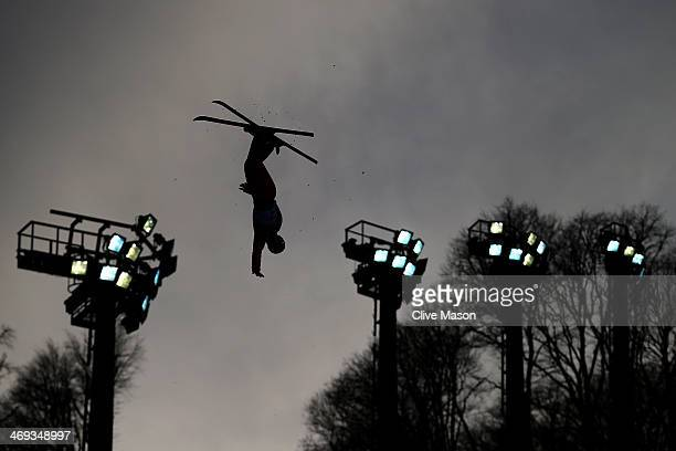 Xu Mengtao of China competes in the Freestyle Skiing Ladies' Aerials Qualification on day seven of the Sochi 2014 Winter Olympics at Rosa Khutor...