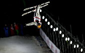 Xu Mengtao of China competes in the Freestyle Skiing Women's Aerials Finals on day one of the 20142015 FIS Freestyle Ski Aerials World Cup at Beijing...