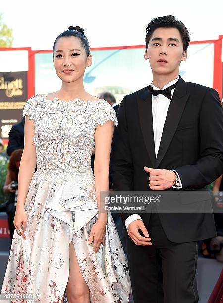 Xu Qing and Li Yifeng attend the closing ceremony and premiere of 'Lao Pao Er' during the 72nd Venice Film Festival on September 12 2015 in Venice...