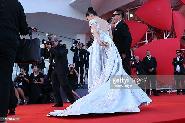 Xu Qing attends the closing ceremony and premiere of 'Lao Pao Er' during the 72nd Venice Film Festival on September 12 2015 in Venice Italy