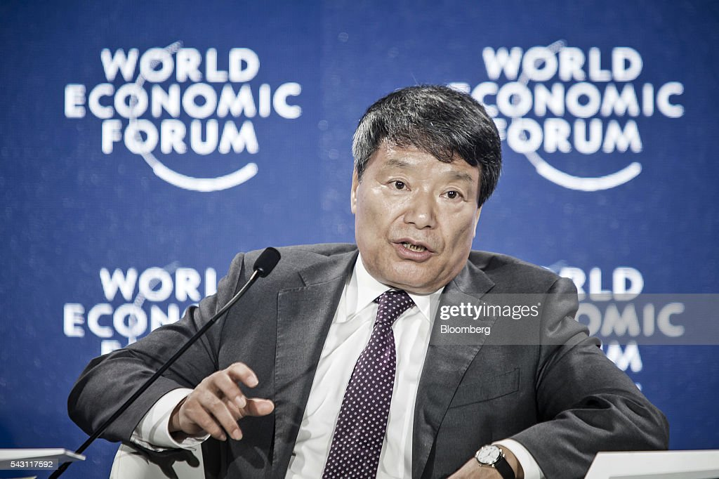 Xu Shaoshi, chairman of the National Development and Reform Commission (NDRC), speaks during an interview on the sidelines of the World Economic Forum (WEF) Annual Meeting of the New Champions in Tianjin, China, on Sunday, June 26, 2016. The meeting runs through June 28. Photographer: Qilai Shen/Bloomberg via Getty Images