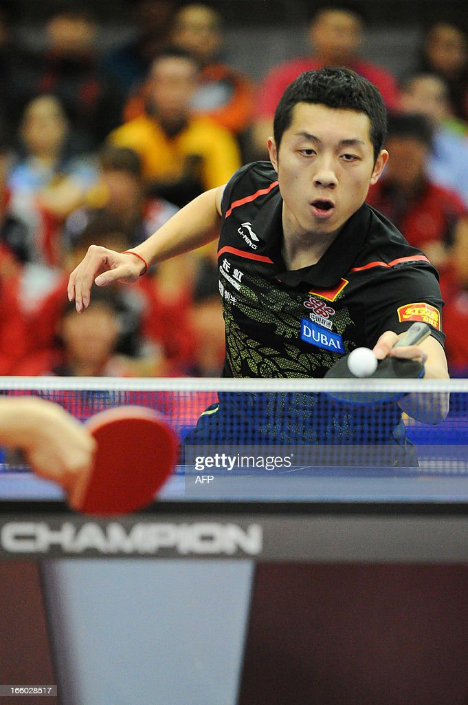 Xu Xin of China competes during the men's singles Final table tennis match of the ITTF Korea Open in Incheon on April 7, 2013
