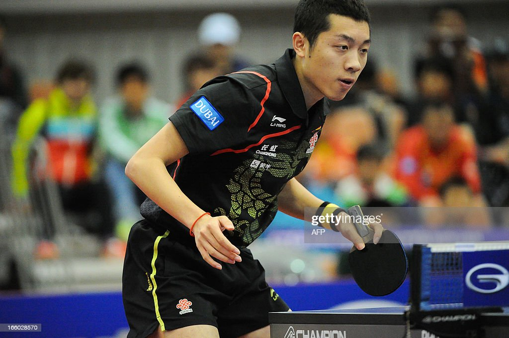 Xu Xin of China competes during the men's singles semi-final table tennis match of the ITTF Korea Open in Incheon on April 7, 2013. AFP PHOTO/KIM DOO-HO