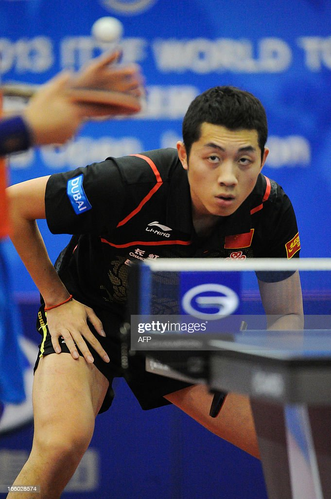 Xu Xin of China competes during the men's singles semi-final table tennis match of the ITTF Korea Open in Incheon on April 7, 2013.