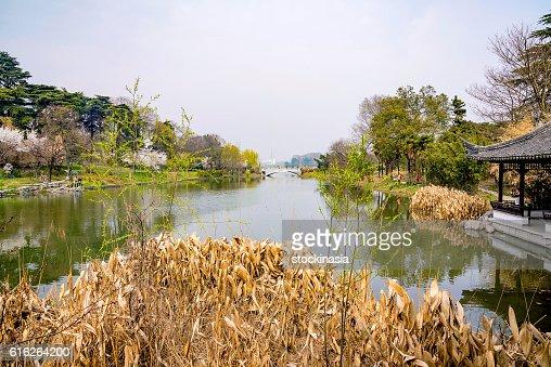 Xuanwu lake in Nanjing : Stock Photo