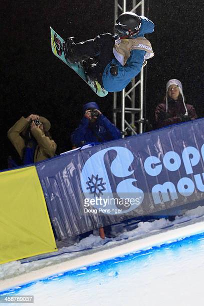 Xuetong Cai of China rides to seventh place in the women's FIS Snowboard Halfpipe World Cup at the US Snowboarding and Freeskiing Grand Prix on...