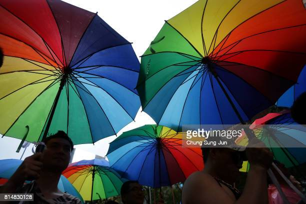 xxx during the Korean Queer Culture Festival on July 15 2017 in Seoul South Korea The annual festival promoting the LGBT rights had occasionally been...