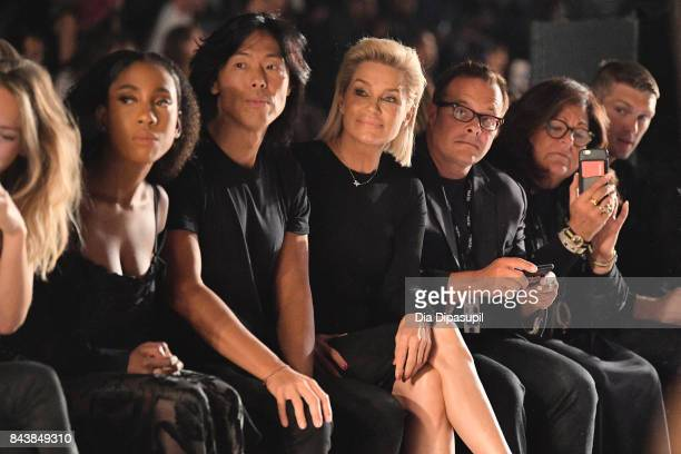 xxx Stephen gan Yolanda Hadid xxx and Fern Mallis attend Desigual fashion show during New York Fashion Week The Shows at Gallery 1 Skylight Clarkson...