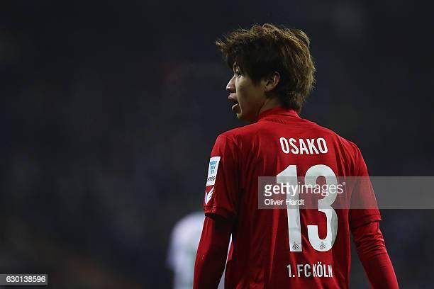 xxx Yuya Osako of Koeln in action during the Bundesliga match between Werder Bremen and 1 FC Koeln at Weserstadion on December 17 2016 in Bremen...
