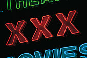 XXX-rated movie sign
