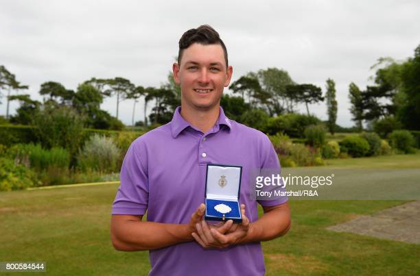xxxx plays his first shot on the 1st tee during Day 6 of The Amateur Championship at Royal St George on June 24 2017 in Sandwich England