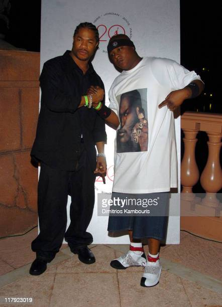 Xzibit and Jadakiss during Air Jordan Celebrates 20th Anniversary with Sneak Peek of Air Jordan XX to Kick Off Michael Jordan Celebrity Invitational...