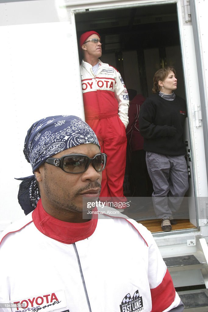 Xzibit John Elway and Shannon Miller during Toyota Pro/Celebrity Race Training Day March 11 2006 at Willow Springs Raceway in Rosamond California...