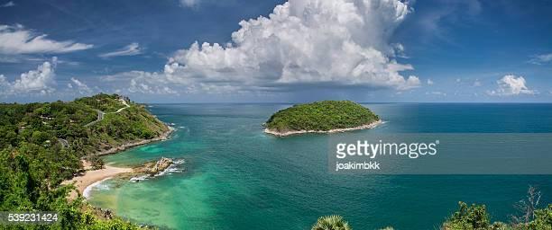 Ya Nui Beach panorama auf der Insel Phuket in Thailand