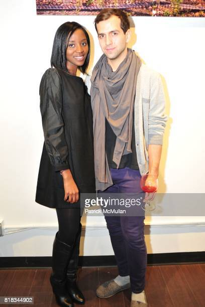 Yaa Yamoah and Daniel Hernandez attend MINNIE MORTIMER Fall 2010 Presentation at Mina Gallery on February 9 2010 in New York City