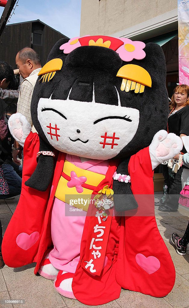Yachinyan, the mascot of shopping district of Yonbancho Square of Hikone City, is seen during the 'Yuru Chara Festival in Hikone' at Yumekyobashi Castle Road on October 23, 2010 in Hikone, Shiga, Japan. Yuru Chara, abbreviation of 'Yurui (unserious or relaxing)' and 'Character', are mascots of local governments, companies etc. The festival attracts 35,000 Yuru Chara fans.
