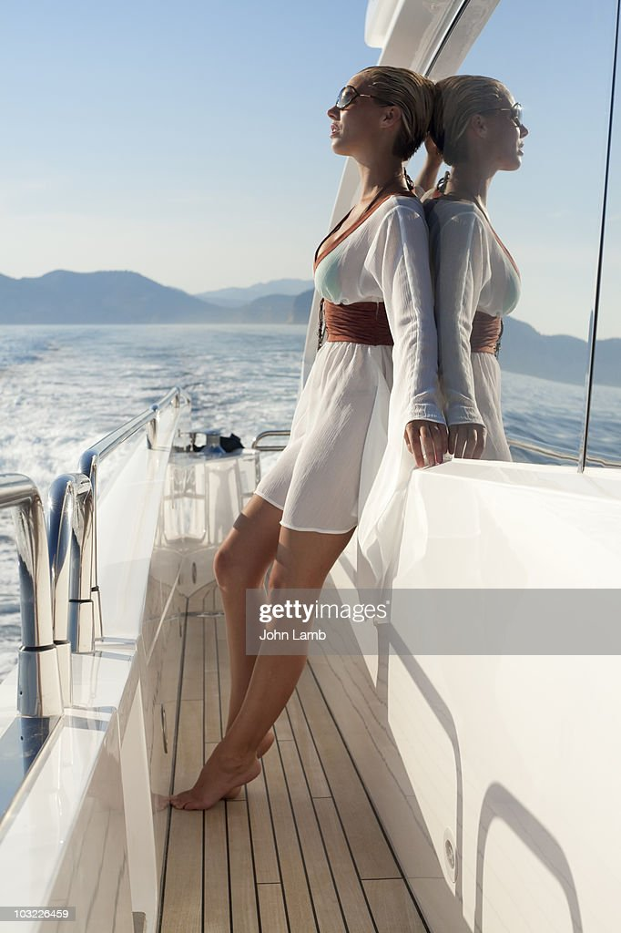 Yacht evening sun : Stock Photo