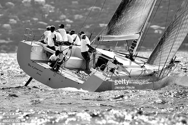 Yacht Non Ti Fermi Mai competes in Giraglia Rolex Cup on June 16 2014 in SaintTropez France