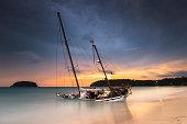 yacht on the beach khuket thailand