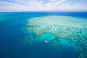 A yacht on the Great Barrier Reef