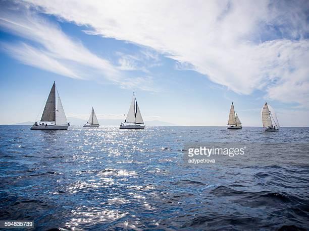 yacht race, Thassos, Greece