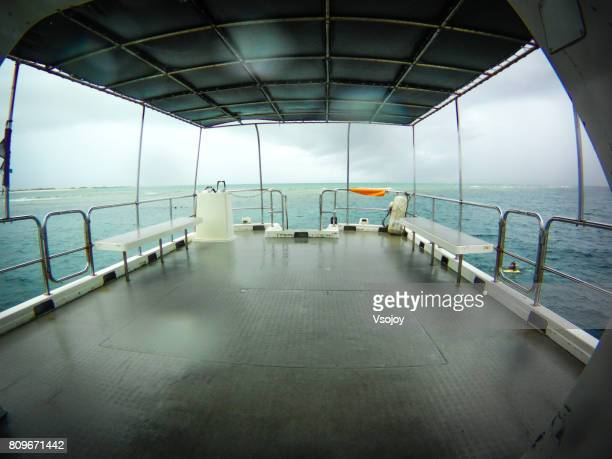 Yacht sailing at Okinawa, Japan.