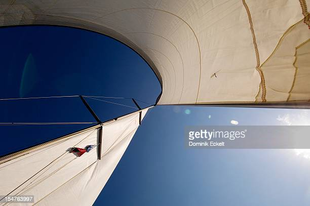 Yacht sails and sky