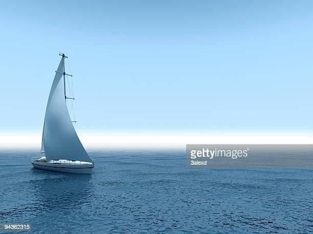 Yacht sea.