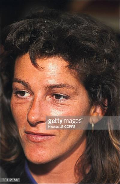 Yachting Start of CEE's race In Lorient France On June 09 1991 Florence Arthaud