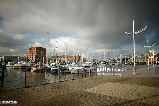 Yachts and boats are moored in Hull Marina after the city was announced as the 2017 UK City of Culture on November 21 2013 in Hull England Hull in...