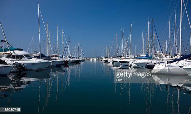 Yachts and Boats at Harbor