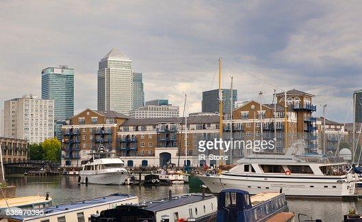 Yachts and boats, Limehouse basin, London : Stock Photo