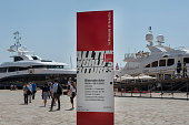 Yachts are pictured moored close to the entrance of the Venice Biennale May 2015