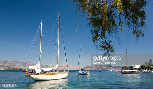 Yachts at anchor, Kouloura, Corfu, Greece