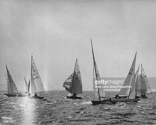Yachts competing in the Dragon class event at the Summer Olympics Sagami Bay Japan 20th October 1964