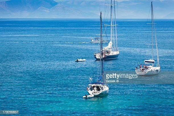 Yachts in Corfu