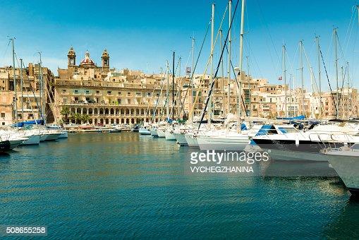 Yachts  in Malta : Stock Photo