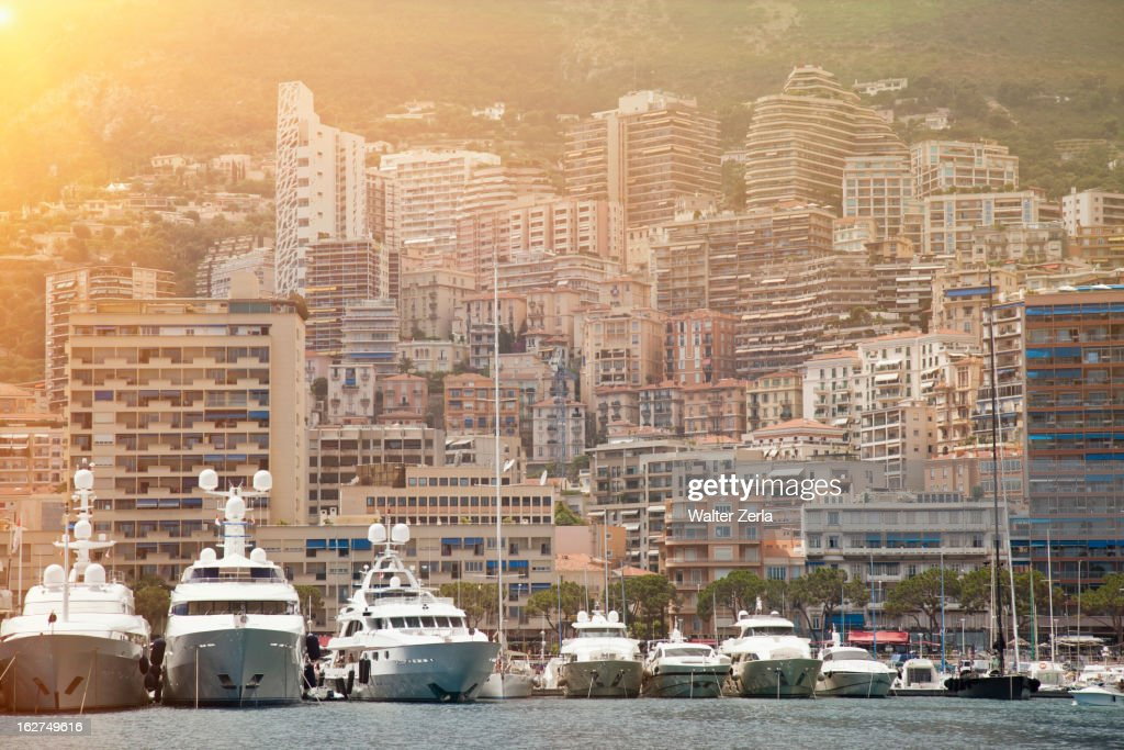 Yachts moored in Monte Carlo
