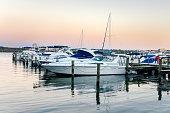 Marina along the Potomac River at Dusk. Alexandria, VA.