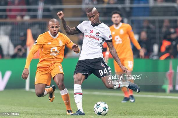 Yacine Brahimi of FC Porto Anderson Souza Conceicao of Besiktas JK during the UEFA Champions League group G match between Besiktas JK and FC Porto on...