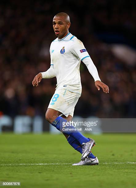 Yacine Brahimi of FC Porto during the UEFA Champions League match between Chelsea and FC Porto at Stamford Bridge on December 9 2015 in London United...