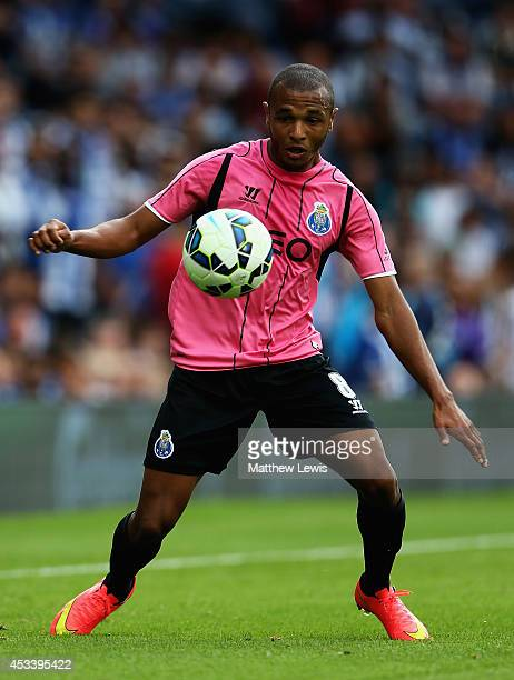 Yacine Brahimi of FC Porto in action during the Pre Season Friendly match between West Bromwich Albion and FC Porto at The Hawthorns on August 9 2014...