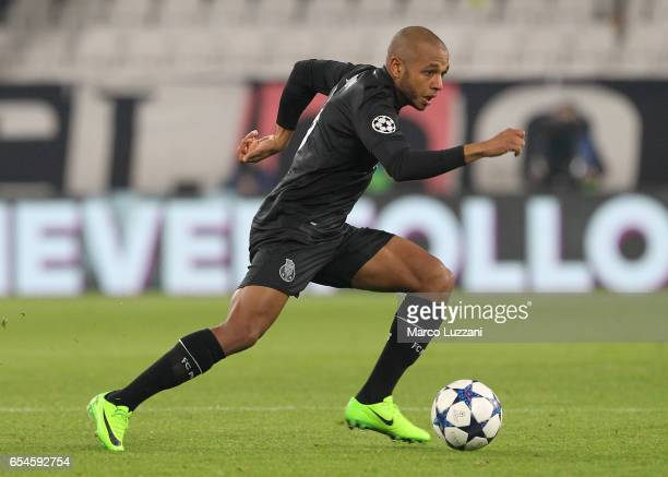 Yacine Brahimi of FC Porto in action during the UEFA Champions League Round of 16 second leg match between Juventus and FC Porto at Juventus Stadium...