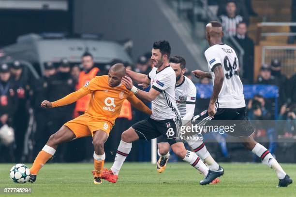 Yacine Brahimi of FC Porto Tolgay Ali Arslan of Besiktas JK Gokhan Gonul of Besiktas JK Anderson Souza Conceicao of Besiktas JK during the UEFA...